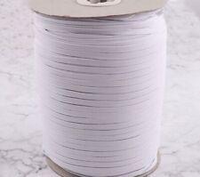 "Ten yards Elastic Band 1/4""Trim/Spandex/make mask string T181-White-5mm-Braided"