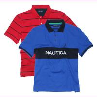 Nautica Men's Slim Fit Short Sleeve Solid Pique Logo Polo Shirt