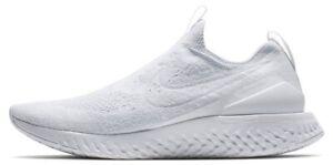 Nike Epic React Moc Flyknit White Pure Platinum Sz 14 BV0417-100 New