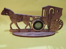 Laser Cut Carriage Desk Clock
