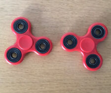 2 x Fidget Spinners - Red - Used