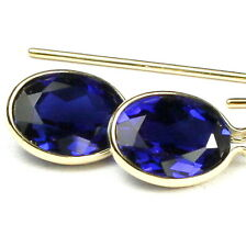 Created Blue Sapphire, 14KY Gold Threaders, E005