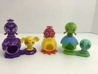 Zoobles Set Spring To Life Rainbow Pop Open Action Toys Lot Of 8 Pcs