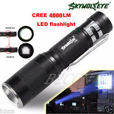 4000 Lumens Zoomable CREE XM-L Q5 LED Flashlight Torch 3 Mode Bright Light Lamp