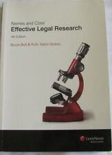 Nemes and Coss' Effective Legal Research 4th Edition Bruce Bott, Talbot-Stokes