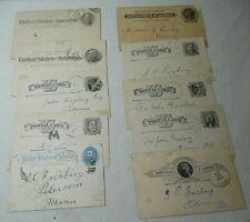 LOT/10 ANTIQUE POSTAL CARDS 1884-1895