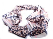 Double Sided Leopard Scotland Tartan Fashion Designer scarf scarves Large shawl