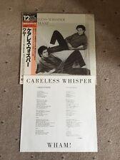 "❣RARE❣️JAPAN 12""•Careless Whisper~Wham! (George Michael) NM"