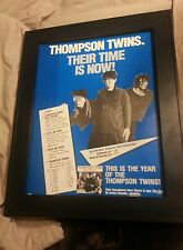 Thompson Twins Into The Gap Rare Promo Poster Ad Framed! Printed Once!
