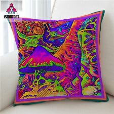 Cushion Cover Psychedelic Pillow Case Colorful Mushroom Decorative Pillow Cover