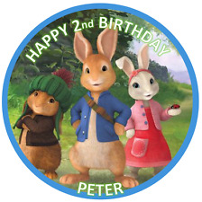 PETER RABBIT BIRTHDAY Personalised Edible Icing Cake Topper Decoration Images