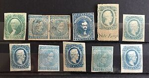 US STAMP Lot of (11) Various Confederate States Stamps MINT & USED -3