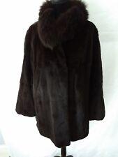 MAXIMILIAN BLOOMINGDALE'S White Mink Fur Coat Size 16-18 Excellent Con FREE SHIP