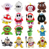 5~14'' Super Mario Bros. Series Plush Toy Bowser Koopa Christmas Gift