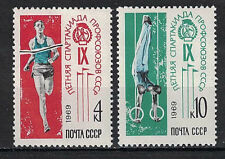 RUSSIA,USSR:1969 SC#3629-30(2) MNH 9th Trade Union Spartakiad, Moscow
