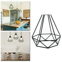 1PCS Geometric Light Shade Wire Frame Ceiling Pendant Home Lampshade HOT L4D2
