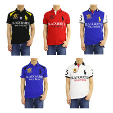 Polo Ralph Lauren Big Pony Custom Blackwatch Short Sleeve Polo Shirt -- 5 colors