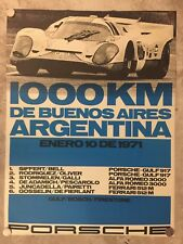 1971 Porsche 917 1000 KM of Argentina Victory Showroom Advertising Poster RARE!!