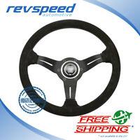 NARDI Italy Steering Wheel Black Deep Corn Black Suede 330mm