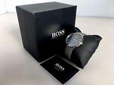 Men's Hugo Boss Horizon Grey Leather Strap 40mm Watch 1513539