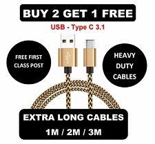 Premium USB C 3.1 Charger Cable for HTC 10, Evo, Lifestyle, U11, U Ultra, U Play