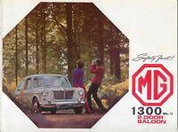 MG 1300 Mk II 2 door Saloon Sep 1968 Original UK Sales Brochure Pub. No. 2587