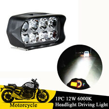 1PC Motorcycle 12W White LED Work Light Bar Headlight Driving Lamp Waterproof
