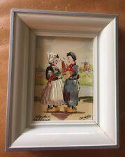 Framed Miniature Painting- Artist Signed From Kunstthandel Roelofs- EUC