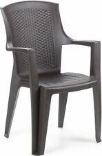 """Sedia in resina sedie con braccioli /""""ischia/"""" bianca 57x58x82 h"""