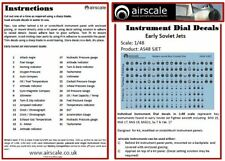 Instrument Dial Decals for Early Soviet Jets, 1/48 scale, Airscale AS48 SJET