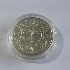 Queen Elizabeth II Silver Jubilee Crown 1977 Commemorative Coin Solid Silver F30