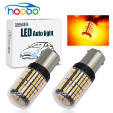 2pc 1156 BA15S Amber Signal Turn Light Car LED Lamp 144SMD 3014 Canbus No Error