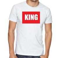 Men's White t-shirt with King Logo