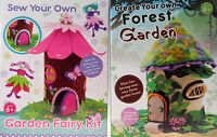 Set Of 2 Sew Your Fairy Garden And Garden Forest House - Craft Toy