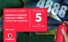 *3234 SCHEDA RICARICA USATA VODAFONE SPRY 5 01 01 2012 OCR 28 CAB 26