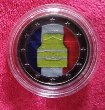 2 euros colorisées gilets jaunes UNC sous capsule NOUVEAU !!!!!!!!!!!!!!!!!!!!