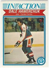 1982-83 OPC HOCKEY #381 DALE HAWERCHUK IN ACTION - NEAR MINT