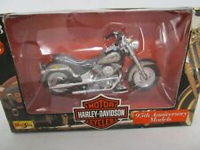(328) Maisto 1:18 scale Harley Davidson MOTORCYCLE FLSTF FAT BOY