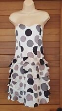 """Review"" Size 8 - Amazing 'Polka Dot' Strapless Ladies Dress - Perfect! Bargain!"