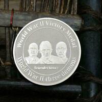 Die Siegesmedaille des Zweiten Weltkriegs Silber Gedenkmünze Sammlung Münze W2R8