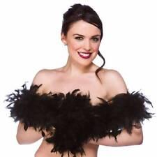 Negro Boa de plumas Disfraz para mujer Burlesque Traje de danza Accesorio
