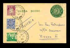 IRLAND GS- Postkarte mit Zusatzfrankatur 1956