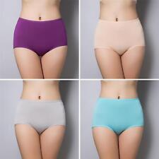 Women Elastic High Waist Panties Briefs Bamboo Fibre Knickers Underwear Candy