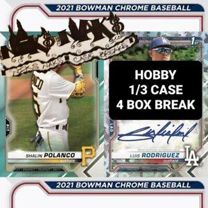 COLORADO ROCKIES 2021 BOWMAN CHROME BASEBALL HOBBY 1/3 CASE 4 BOX BREAK #2