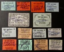 1959 to 1989 South Dakota Hunting and Fishing License Stamps