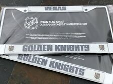 2 Vegas Golden Knights - Chrome Metal Vehicle License Plate Frame