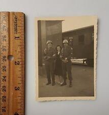 Vintage Photograph B&W c1950 Military Police MP Train Girl Navy Men