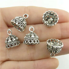 18219*15PCS 14.5mm Round Beads Cap End For Tassels Charms Alloy Tibetan Silver