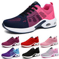 Womens Sneakers Air Cushion Running Breathable Athletic Sports Casual Mesh Shoes