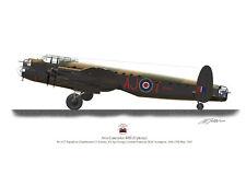 Avro Lancaster Dambusters 617 Squadron Profile Limited Edition A3 Print WW2